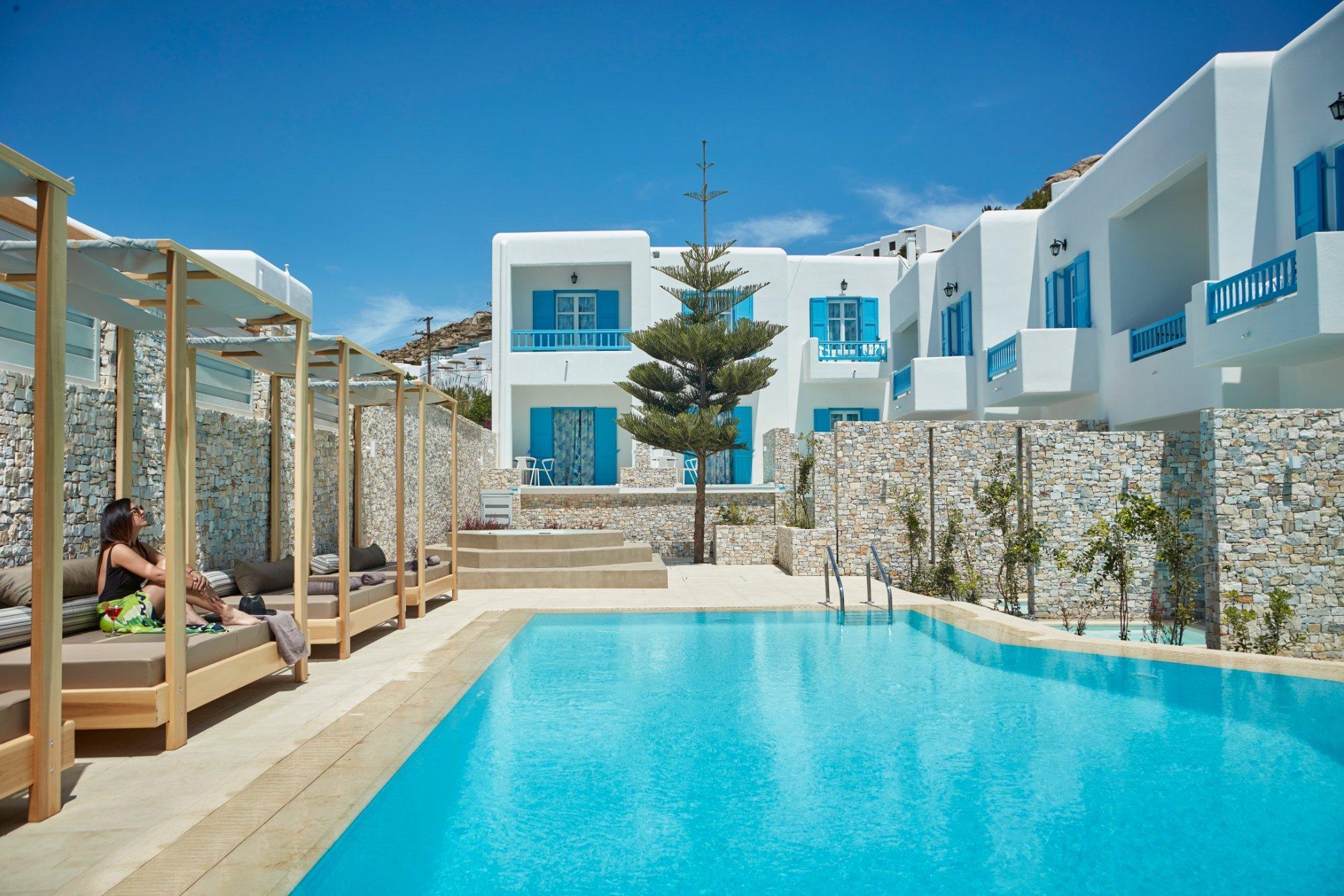 Фото Mykonos Kosmoplaz Beach Resort Hotel 4*